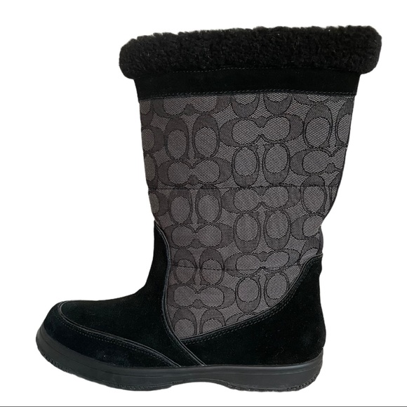 Coach Sherman Signature Cold Weather Suede Boots